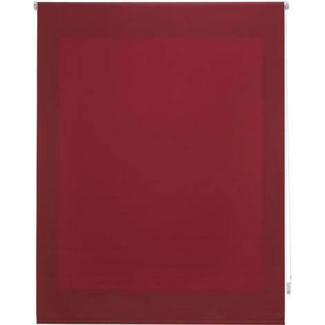 Estor enrollable traslúcido liso burdeos 120x250 cm (ancho x alto)