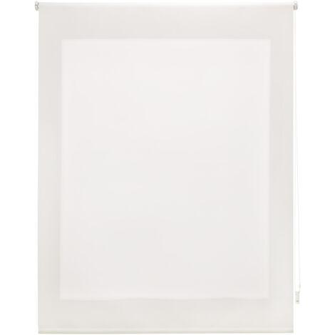 Estor enrollable traslúcido liso crudo 80x175 cm (ancho x alto)