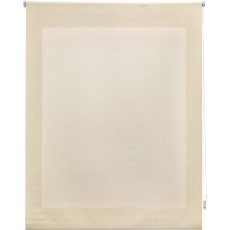 Estor enrollable traslúcido liso beige 80x175 cm (ancho x alto)