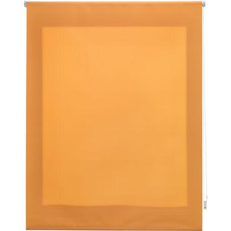 Estor enrollable traslúcido liso naranja 80x175 cm (ancho x alto)