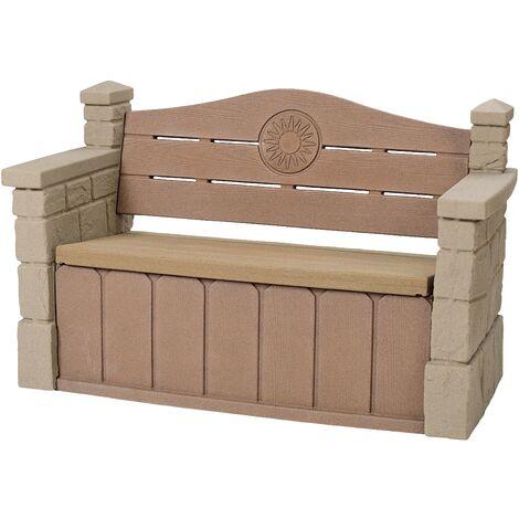 Step2 Outdoor Storage Bench Banc de jardin pour les enfants | Banc en plastique enfant avec espace de rangement