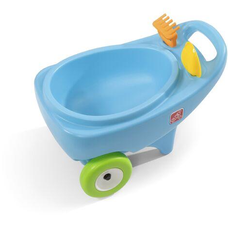 Step2 Springtime Brouette enfant en bleu | Jouet Brouette de jardin en plastique