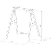 AXI Portique en Bois FSC - Balançoires Enfant en Marron | Balançoire pour Enfants pour l'extérieur / le jardin