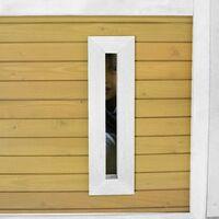 AXI Akela Maison Enfant avec Toboggan Blanc | Aire de Jeux pour l'extérieur en marron & blanc | Maisonnette / Cabane de Jeu en Bois FSC