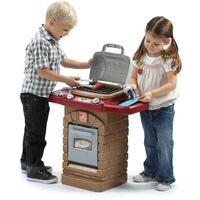 Step2 Fixin' Fun Gril / Barbecue / Cuisine Enfant en Plastique   Jeu / Jouet Cuisine pour Enfants avec Kit d'accessoires de 10 Pièces