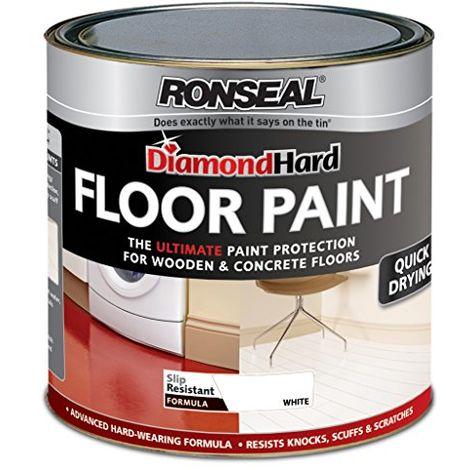 Ronseal Diamond Hard Perfect Finish Floor Paint White 750ml