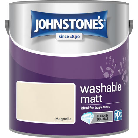 Johnstone's 2.5 Litre Washable Matt Emulsion Paint - Magnolia