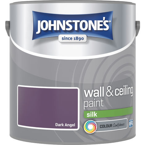 Johnstone's 2.5 Litre Silk Emulsion Paint - Dark Angel