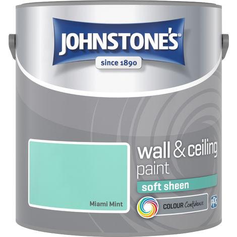 Johnstone's 2.5 Litre Soft Sheen Emulsion Paint - Miami Mint
