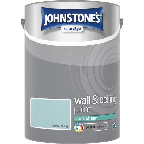 Johnstone's 5 Litre Soft Sheen Emulsion Paint - New Duck Egg
