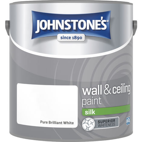 Johnstone's 306569 2.5 Litre Silk Emulsion Paint - Brilliant White