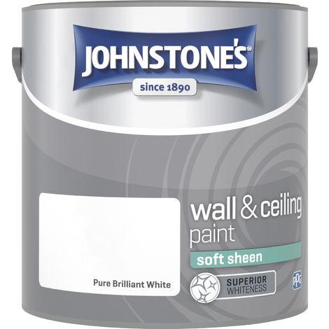 Johnstone's 304198 2.5 Litre Soft Sheen Emulsion Paint - Brilliant White