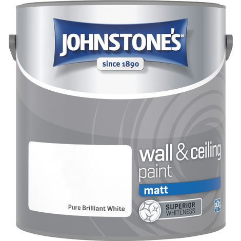 Johnstone's 303967 2.5 Litre Matt Emulsion Paint - Brilliant White