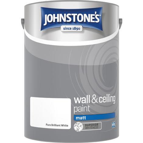 Johnstone's 303968 5 Litre Matt Emulsion Paint - Brilliant White