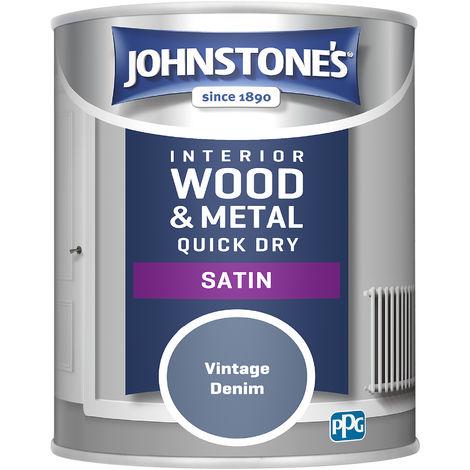 Johnstones 750ml Quick Dry Satin Paint - Vintage Denim