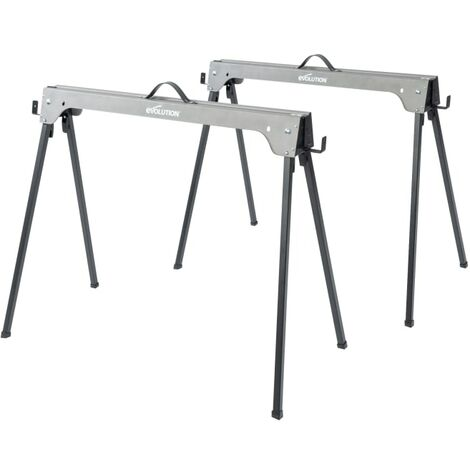 Evolution Metal Folding Sawhorse Stand (Twin Pack)