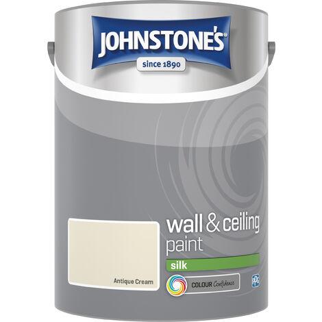 Johnstone's 306605 5 Litre Silk Emulsion Paint - Antique Cream