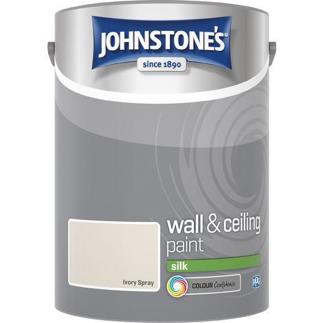 Johnstone's 306601 5 Litre Silk Emulsion Paint - Ivory Spray