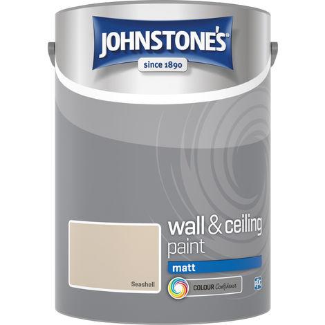 Johnstone's 304057 5 Litre Matt Emulsion Paint - Seashell