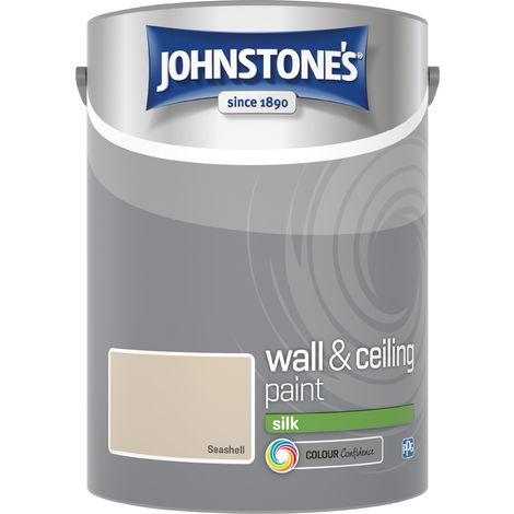 Johnstone's 306604 5 Litre Silk Emulsion Paint - Seashell
