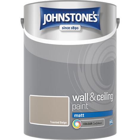 Johnstone's 304060 5 Litre Matt Emulsion Paint - Toasted Beige