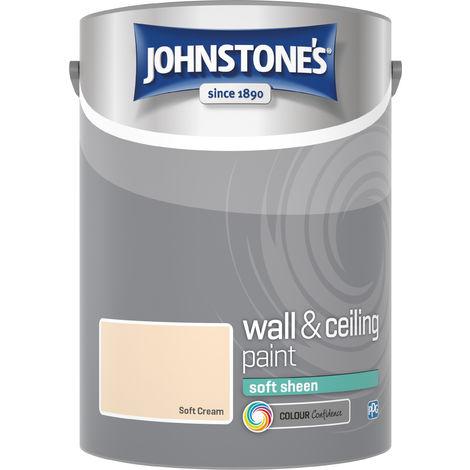 Johnstone's 304193 5 Litre Soft Sheen Emulsion Paint - Soft Cream