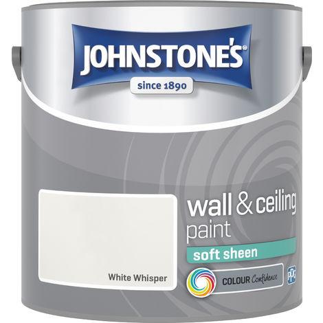 Johnstone's 306065 2.5 Litre Soft Sheen Emulsion Paint - White Whisper