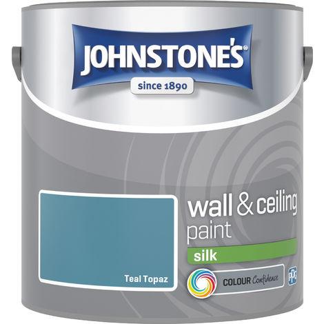 Johnstone's 307074 2.5 Litre Silk Emulsion Paint - Teal Topaz
