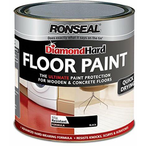 Ronseal Diamond Hard Floor Paint 750ml Black