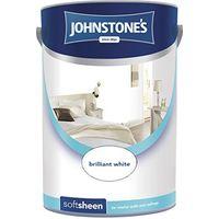 Johnstone's 304199 5 Litre Soft Sheen Emulsion Paint - Brilliant White