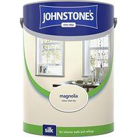 Johnstone's 304085 5 Litre Silk Emulsion Paint - Magnolia