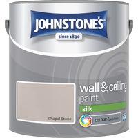 Johnstone's 307072 2.5 Litre Silk Emulsion Paint - Chapel Stone