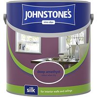 Johnstone's 307069 2.5 Litre Silk Emulsion Paint - Deep Amethyst