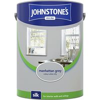 Johnstone's 307782 5 Litre Silk Emulsion Paint - Manhattan Grey