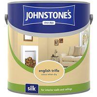 Johnstone's 2.5 Litre Silk Emulsion Paint - English Trifle