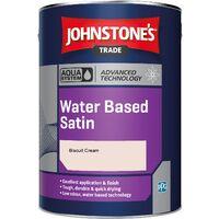 Johnstone's Aqua Water Based Satin - Biscuit Cream - 2.5ltr