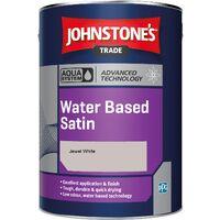 Johnstone's Aqua Water Based Satin - Jewel White - 2.5ltr