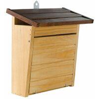 Ferplast NEST 8 Nido da esterno per uccelli selvatici in legno bianco ecosostenibile. Variante NEST 8 - Misure: 28 x 12 x h 28,7 cm -