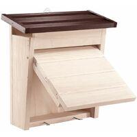 Ferplast NEST 8 Nido da esterno per uccelli selvatici in legno ecosostenibile. Variante NEST 8 - Misure: 28 x 12 x h 28,7 cm -