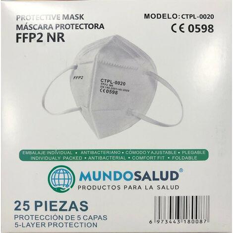 MUNDOSALUD MASCARILLA FFP2 (25 UDS)