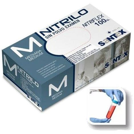 SANTEX GD20 GUANTE NITRILO SIN POLVO C/100UDS | XL
