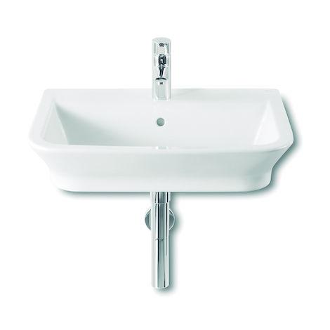 ROCA Lavabo de porcelana suspendido - Serie The Gap, Color Blanco