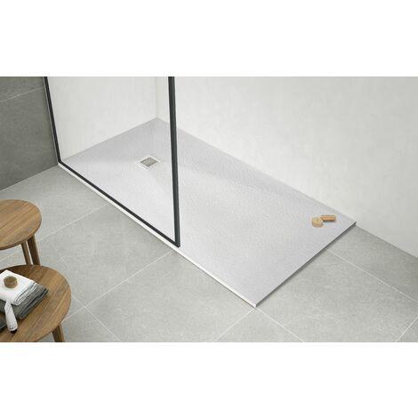 Plato de ducha resina blanco DIVA Natura 100 x 70 cm