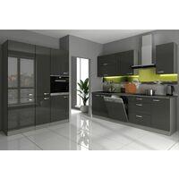 Küche Vario I 240 + 160 cm Küchenzeile in Hochglanz weiß ...