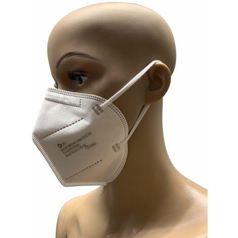 40x FFP2 LXD Mundschutz weiß CE1463 Feinstaubmaske Atemschutzmaske Schutzmaske