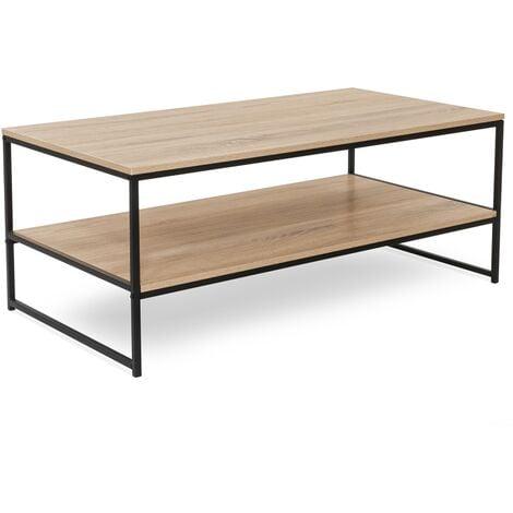 Table basse double plateau DETROIT design industriel
