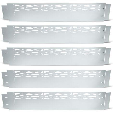 Bordurette de jardin x5 acier ajouré flexible L. 5 x H. 0.18 M