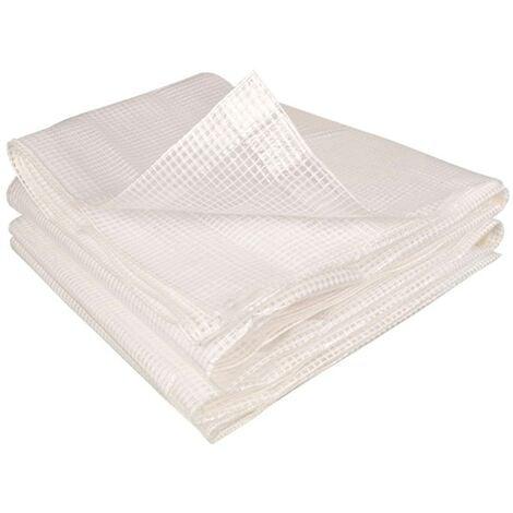 Bâche de rechange 140 gr/m² pour serre 12m² blanche 4 saisons ZEBRA