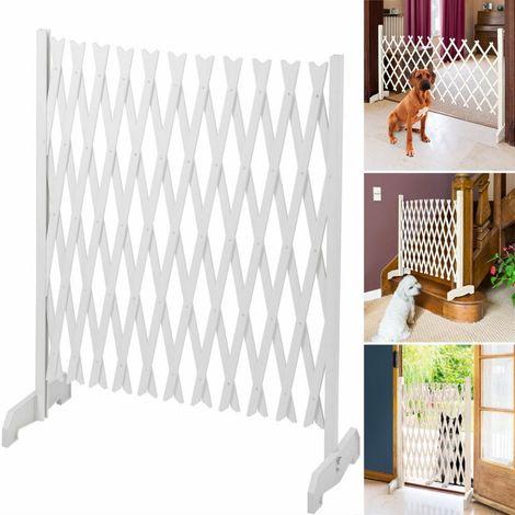 Barrière extensible blanche treillis PVC 35 à 250 CM