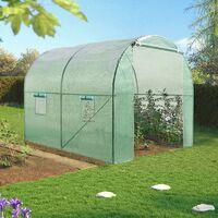 Serre tunnel de jardin 6M² verte gamme maraichère ROMA 2x3M